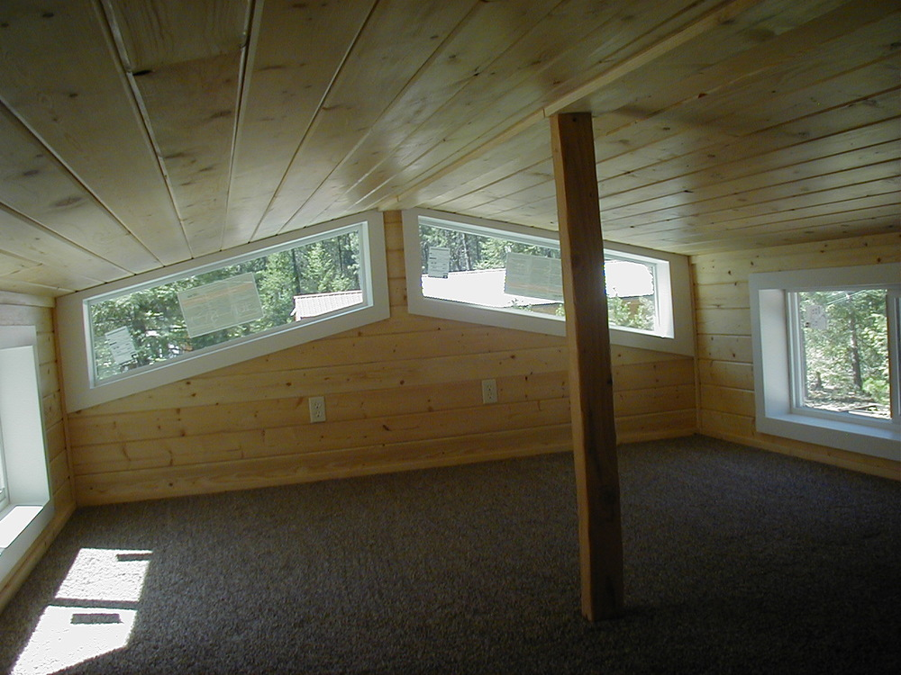 Roof Style Options: Inside View Of Loft: The Lake View Cabin