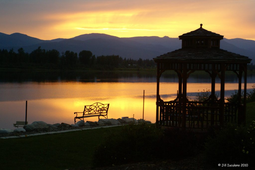 Sunset: Lake Guinevere Skookum Resort