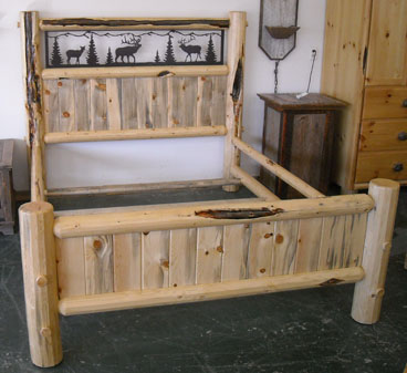 Hand Crafted Log Beds Tiny Portable